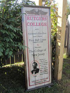 Rutgers Football Sign. $225.00, via Etsy.