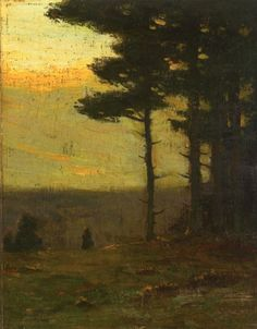 """Afterglow"" oil - Charles Warren Eaton (1857–1937)  American artist best known for his tonalist landscapes."