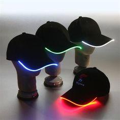 LED brim lighted caps