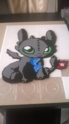How to train your Dragon (Toothless) perler beads by Perlerwonders