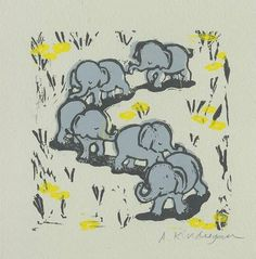 would be a cute tattoo. the elephants only though