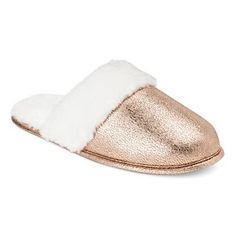 5d13a62efbb Women s Scuff Slippers - Xhilaration™ Gold Slippers