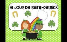 Patrick's Day vocabulary cards in French