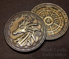 Silver Finish- LARP Game Role Playing RPG 30mm Fantasy Magic Phoenix Coin