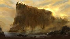 The golden cliffs of Casterly Rock, for GOT Ascent.
