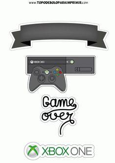 Topo de Bolo para Imprimir - TOPO DE BOLO Xbox One, Bolo Xbox, Video Game Xbox, Eid Envelopes, Minecraft, Paw Patrol Party, Videogames, Scrapbook, Miniatures