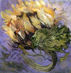 Sunflower Head, No. 8 (pastel, 29×29) by Jimmy Wright #FloralPainting