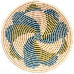 African Basket - Rwanda Sisal Coil Weave Bowl - 12 Inches Across - Tapestry Bag, Tapestry Crochet, Willow Weaving, Basket Weaving, Mochila Crochet, Tableau Design, Basket Decoration, Crochet Purses, Bead Weaving