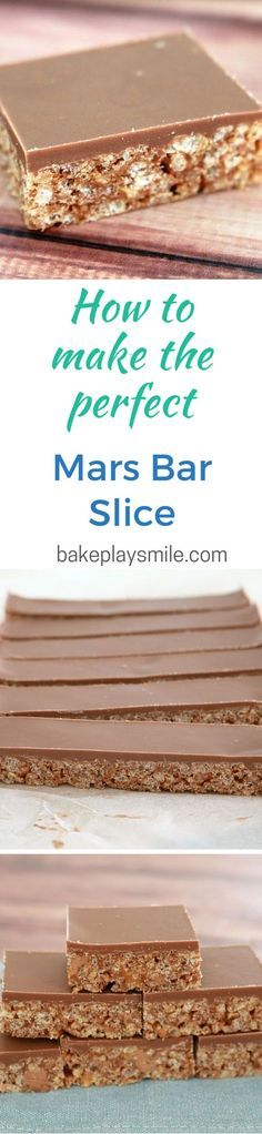 This 5 Ingredient Mars Bar Slice is so simple and delicious. Mars Bar Slice, No Bake Slices, Cake Stall, Biscuits, Tray Bakes, No Bake Cake, Sweet Recipes, Christmas Baking, Sweet Treats