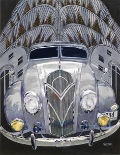 DeSoto and Deco Design Painting by Mike Hill - DeSoto and Deco Design Fine Art Prints and Posters for Sale