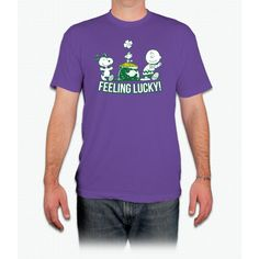 Feeling Lucky White Snoopy - Men T-Shirt