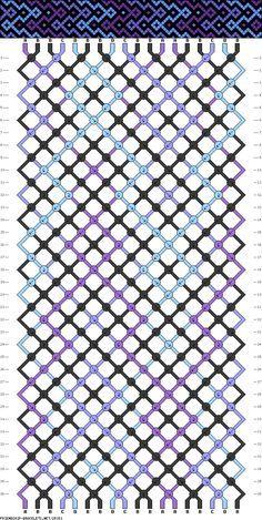 friendship bracelet pattern ● 18 strings ● 4 colors ● A(3), B(9), C-D(3)