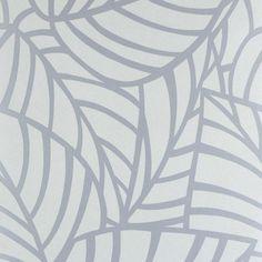 Обои на флизелиновой основе 0.53х10 м листья цвет серый Ra 603613