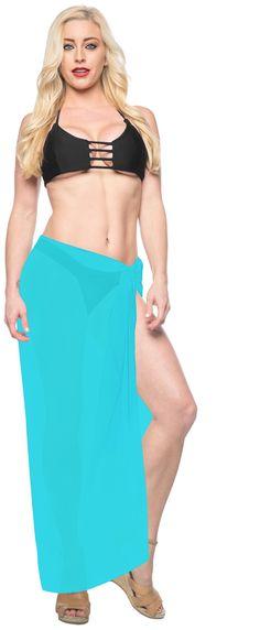 8f8c458162e1a HAPPY BAY - HAPPY BAY Beach Women Wrap Sarong Swim cover up Hawaiian Skirt  swimwear Chiffon Plain - Walmart.com