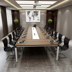 Top design boardroom office furniture wooden rectangular conference table modern meeting table