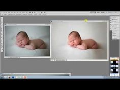 How to get smooth background blankets when editing newborn photographs.