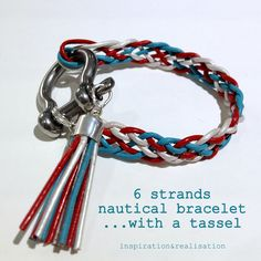 inspiration and realisation: DIY fashion blog: DIY nautical leather cords bracelet-----Imagine the multitude of color combinations you could come up with for this braid!