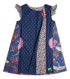 Taking Flight Dress - Big, Oishi-m Clothing for kids, Winter 2017, www.oishi-m.com