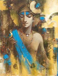 Krishna | spiritual religious art painting portrait