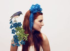 CHANCE / turquoise floral crown by DDSLLGirlsStore on Etsy, $42.00