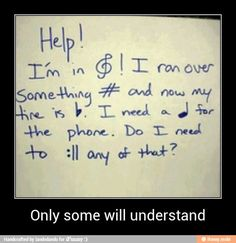 trouble, sharp,quarter (It is actually a quarter NOTE but who cares) and repeat. Now fill in the blanks.