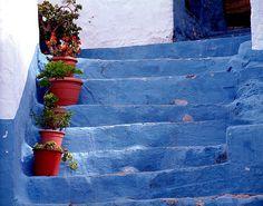The Blue steps, Velez de Benadaulla, Andalucia by frotos (Fred Shively), via Flickr