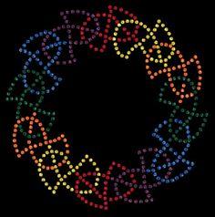 Traditional Rainbow Celtic Knot DIY Rhinestone by AccentsByEddita, $22.99