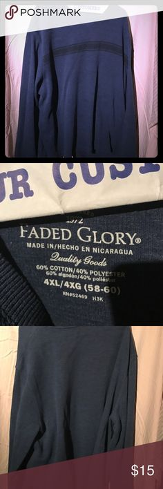 Faded glory v neck sweater Big! 4x stripe across front, v neck comfortable!!! Plenty of room for layers!! Faded Glory Sweaters V-Neck