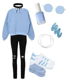 """Troye Sivan"" by itzvictoriadinh ❤ liked on Polyvore featuring adidas, Boohoo, Essie and Lime Crime"