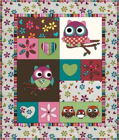 Owl Tree Quilt Pattern in Owl Quilts, Baby Quilts, Tree Quilt Pattern, Quilt Patterns, Owl Tree, Applique Templates, Panel Quilts, Colorful Pictures, Baby Patterns