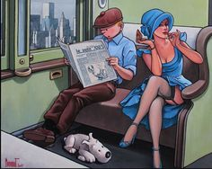 Tintin Hopper Compartment oil painting reproduction on canvas Couple Drawings, Disney Drawings, Cartoon Drawings, Cartoon Art, Gravure Illustration, Comics Illustration, Fantasy Books, Fantasy Art, Collection Louis Vuitton
