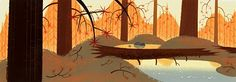 Bill Wray Samurai Jack Background Painting. Love, love, love the colors.