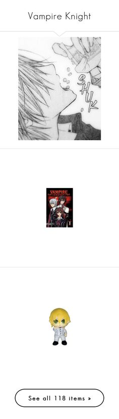 """""""Vampire Knight"""" by supernaturalblackcat ❤ liked on Polyvore featuring anime, backgrounds, manga, vampire knight, filler, effect, books, pictures, plushies and stuffed animals"""