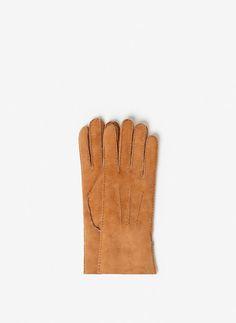 doppellagige handschuhe aus schafleder