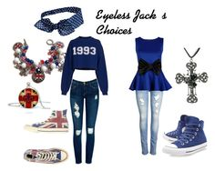 """""""Eyeless Jack's Choices"""" by cancerian808 ❤ liked on Polyvore featuring art"""