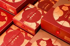 Ideas for gifts box packaging red Honey Packaging, Bakery Packaging, Gift Box Packaging, Tiger Design, Red Design, Packing Box Design, Gift Box Design, New Year Designs, Moon Cake