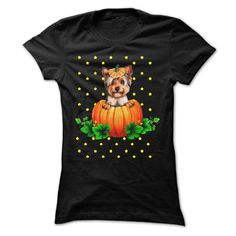 Yorkie and Halloween T-Shirts, Hoodies. VIEW DETAIL ==► https://www.sunfrog.com/Pets/Yorkie-and-Halloween.html?id=41382