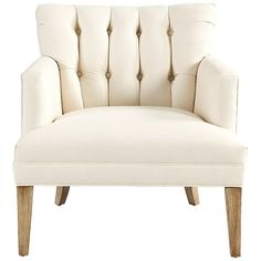 Ballard Designs Lena Tufted Club Chair ($699) ❤ liked on Polyvore featuring home, furniture, chairs, accent chairs, upholstered accent chairs, upholstery furniture, tufted club chair, upholstered club chair and upholstered furniture