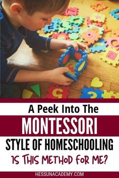 Raising a child the Montessori way is more than just books and curriculum. The Montessori method of homeschooling is a way of life. Is the Montessori homeschool style for me? #montessori #montessorihomeschooling #homeschool #homeschoolstyles #methodsofhomeschooling Kindergarten Homeschool Curriculum, Montessori Homeschool, What Is Montessori, Teaching Plan, How To Start Homeschooling, Raising, Child, Books, Waldorf Education