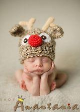 SHOP-ANASTASIA so süß Mütze für Neugeborenen Fotografie Weihnachten ELCH NEU