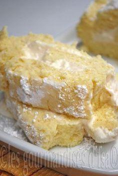 Les gourmandises d'Isa: ROULÉ SOUFFLÉ AU CITRON, CRÈME DE MASCARPONE AU LI...