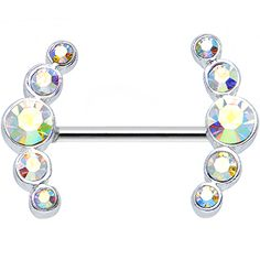Round Aurora Gem Quintet Nipple Shield #bodycandy #bodyjewelry $9.99 Piercing Ring, Piercing Tattoo, Ear Piercings, Peircings, Piercing Ideas, Cute Jewelry, Body Jewelry, Bridal Jewelry, Jewelry Accessories