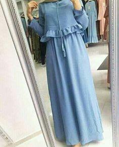 Modern Hijab Fashion, Abaya Fashion, Muslim Fashion, Fashion Dresses, Stylish Dresses For Girls, Casual Dresses, Hijab Evening Dress, Hijab Style Dress, Mode Abaya