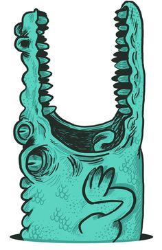Art Print by andreslozano Character Illustration, Digital Illustration, Graphic Illustration, Graffiti Murals, Mural Art, Crocodile Craft, Crocodile Illustration, Flash Art, Crocodiles