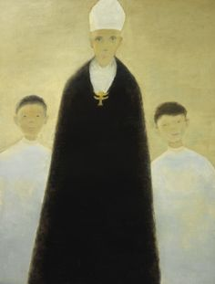 L'évêque en noir - 1963 Jean Paul Lemieux, Art Informel, Priest, Expressionism, Arts, Les Oeuvres, Dutch, Catholic, Art Drawings