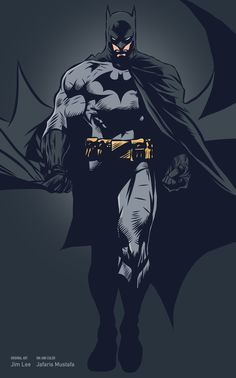 Those who wander are not lost — baung: Batman (Original art by Jim Lee) made...