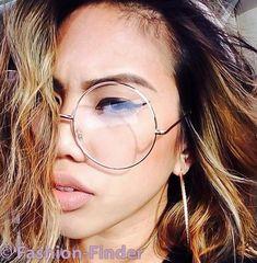 "Oversized ""MALINA"" XL Large Big Round Circle Thin Metal Frames Eye Glasses Specs in Health & Beauty, Vision Care, Eyeglass Frames | eBay"