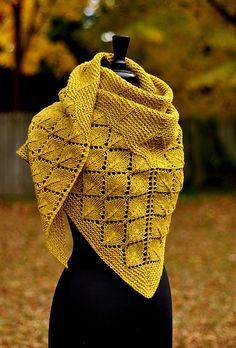 Ravelry: Quaking Aspen pattern by Dee O'Keefe Shawl Patterns, Lace Patterns, Knitting Patterns, Crochet Patterns, Diy Tricot Crochet, Crochet Shawl, Easy Knitting, Loom Knitting, Knitting Accessories