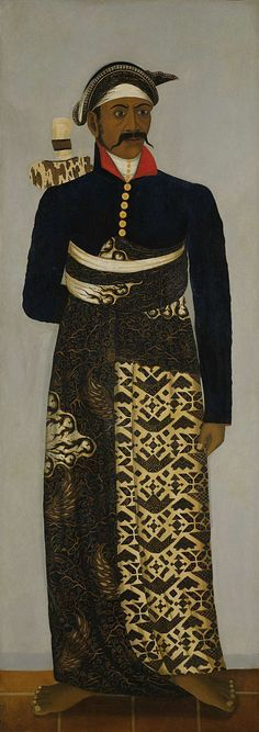 Javanese court official, by anonymous, approx. 1820 - approx. 1870 (Rijksmuseum, the Netherlands).