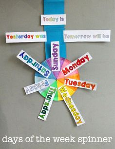 "Days of the week display free printables... Follow for FREE ""too-meat-not-to-keep"" teaching tools & other fun stuff :)"